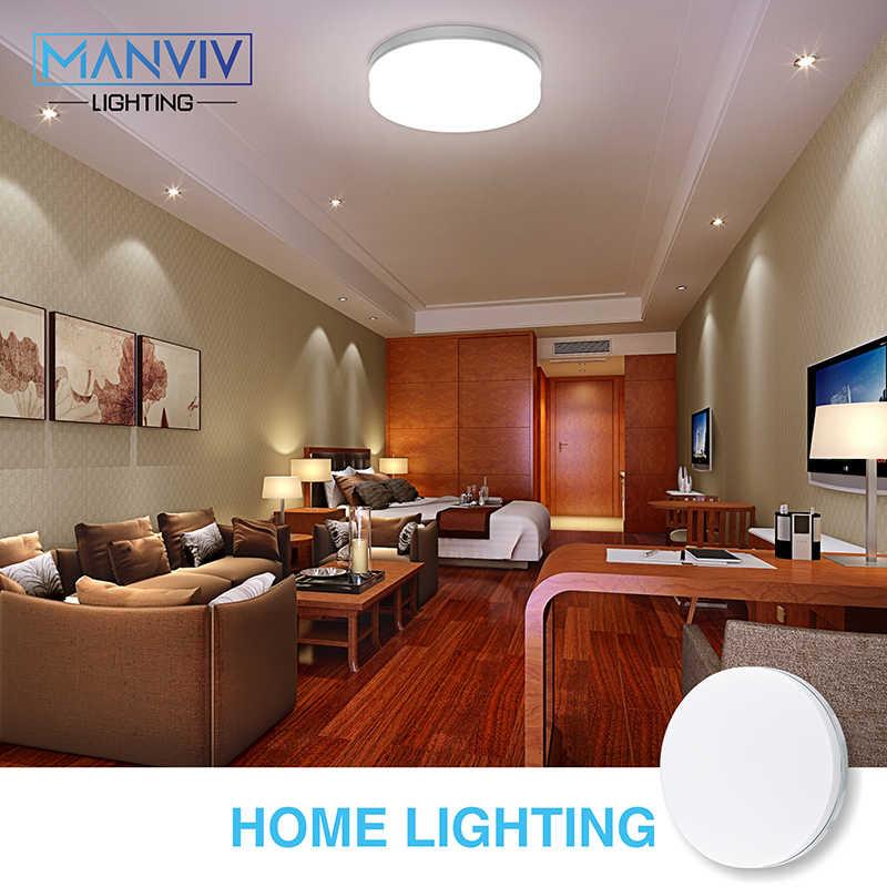 Круглые светодиодные плафоны панели лампы Suqare потолочная поверхность светильник 48 Вт 36 Вт 24 Вт 18 Вт поверхностного монтажа Para для украшения дома освещение