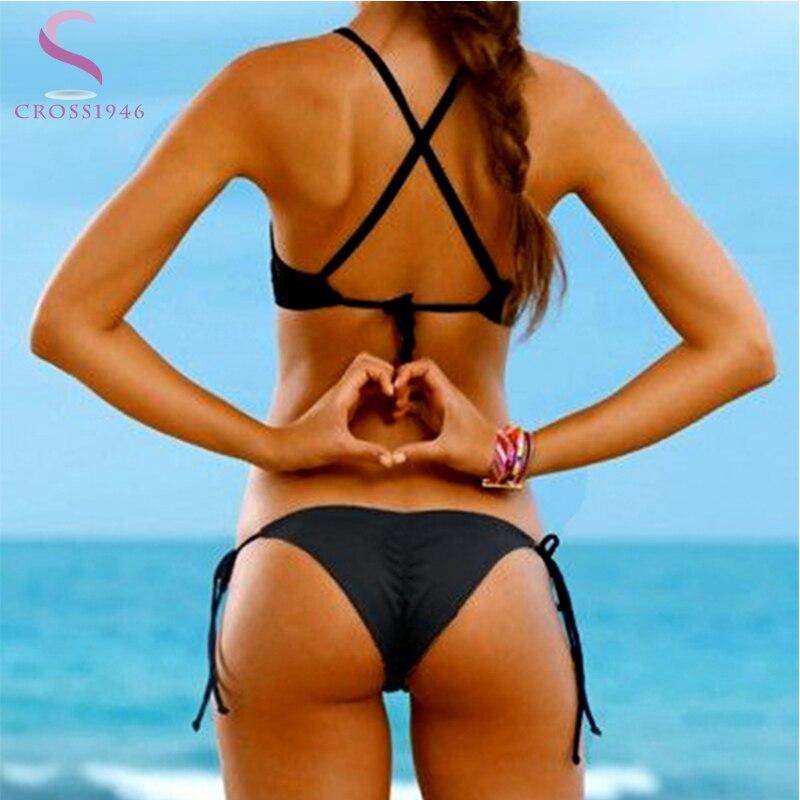 Mini Sexy Brazilian Bikinis Bottoms Women Bandage Swimwear Femme Bathing Suit Beachwear swimsuit Bottom Thong solid 10 Color
