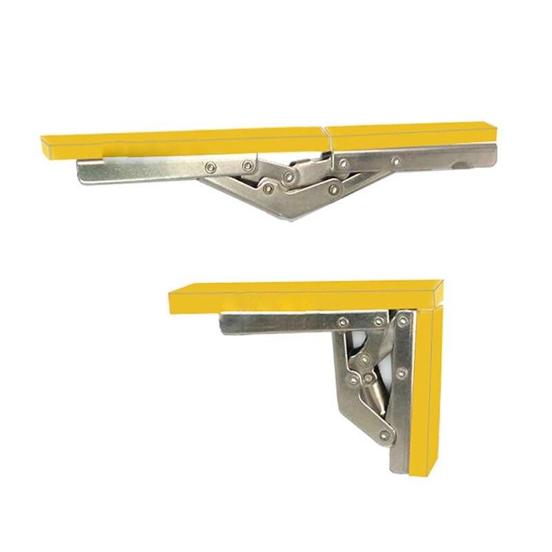 90 Degree Folding Door/Shelf Hinge Hidden Bracket Table Holder Furniture Parts