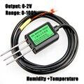 O envio gratuito de New 1 pc 0-100% sensores de Solo 0-2 V saída de umidade do solo sensor de umidade temperatura sensor-40 ~ 80C