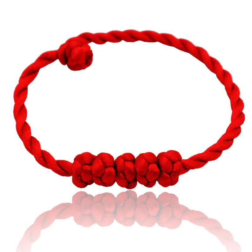 New Hot Fashion Red Thread Red String Dual Layer Bracelets for Women Men Jewelry Lover Couple Gift 1 pcs in Strand Bracelets from Jewelry Accessories