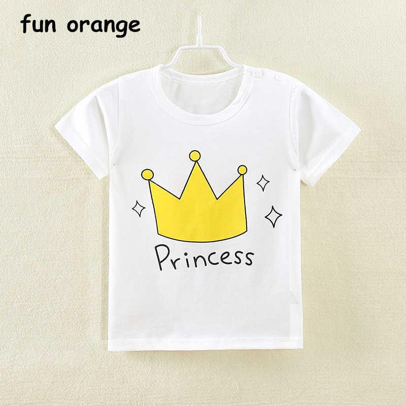 8c26a16e3 ... Divertido naranja niñas niños camisetas niños dibujos animados  camisetas de manga corta camisetas impresas niñas niños ropa algodón verano camiseta  para ...