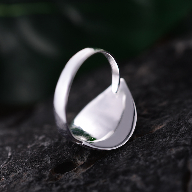 Sterling Silver Natural Pearl Handmade Open Leaf Ring