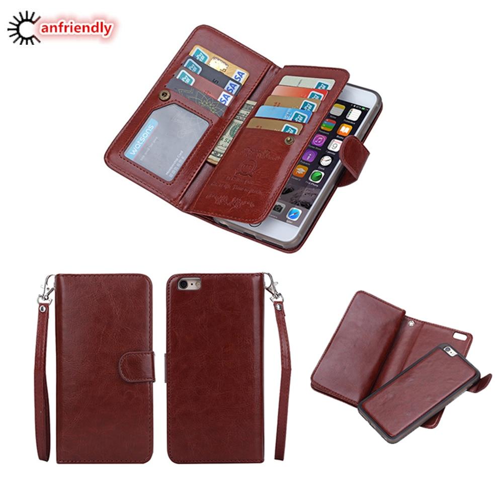 För iphone 6 6S 6 S Plus Fodral Lyxig plånbok Läder Flip Cover - Reservdelar och tillbehör för mobiltelefoner - Foto 1