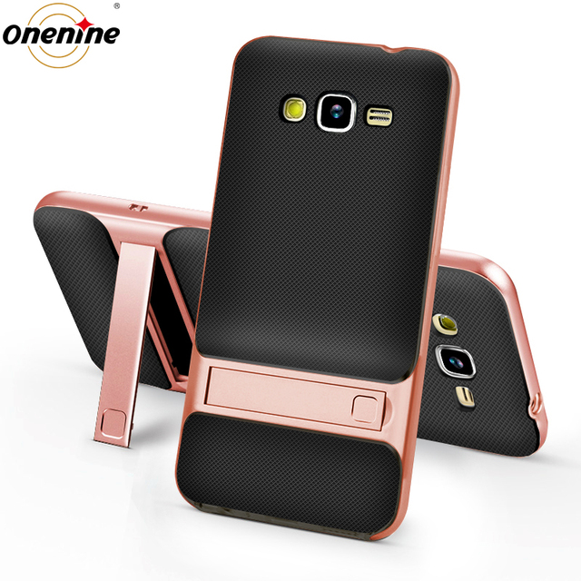 best cheap e370b 4ed90 US $3.49 30% OFF|3D Kickstand Phone Case for Samsung Galaxy J2 Prime G532F  Case Silicone Cover 360 Protection TPU+PC Hybrid Mobile Back Cover 5.0-in  ...