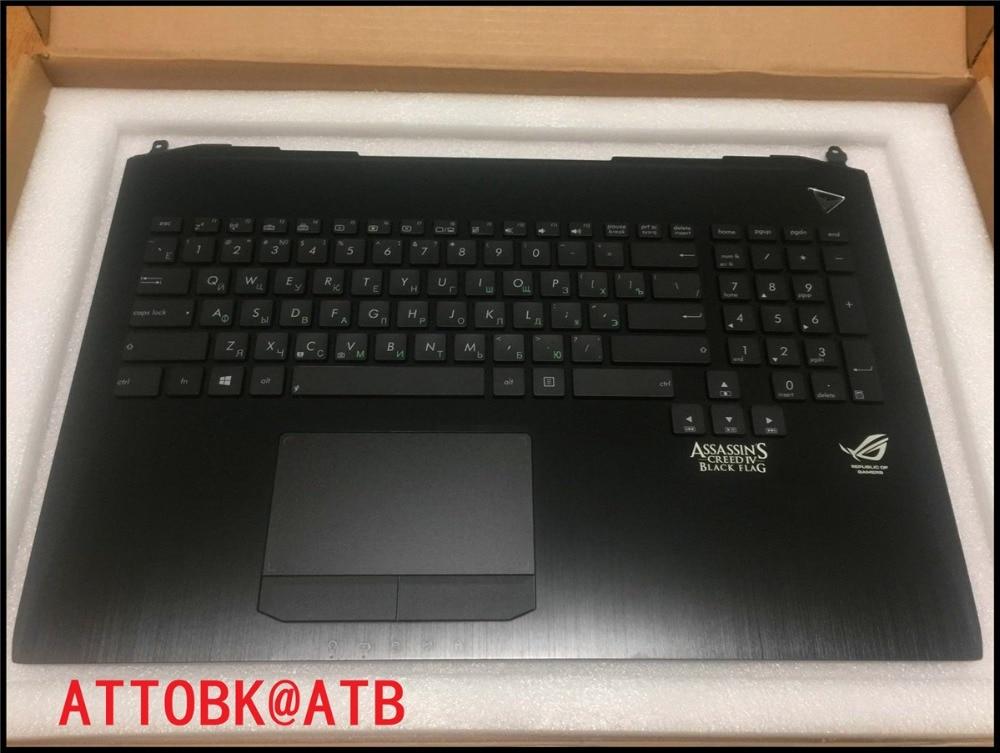 ATTOBK@ ATB русский стандарт Клавиатура для ноутбука Упор рук для ASUS G750 G750JH G750JM G750JS G750JW G750JX G750JZ с подсветкой