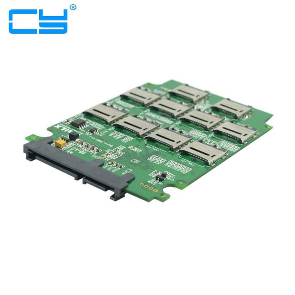 510xmicro sd t flash cartao de memoria tf para adaptador adaptador de conector sata ssdcartao com raid quad 2.5 polegadas SATA