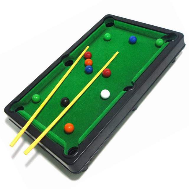 New Children Mini Billiards Games Plastic Small 6 In 1 Functional Household  Billiards Table Games For