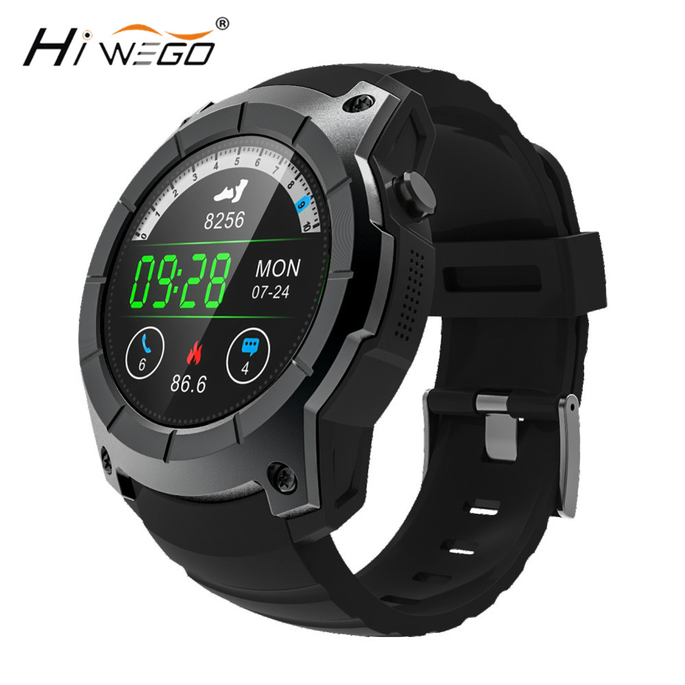 Hiwego Men 2018 GPS Smart Sport Watch Heart Rate Barometer Monitor Smartwatch Multi-sport Model Smart Watch for Android IOS S958 smart watch smartwatch dm368 1 39 amoled display quad core bluetooth4 heart rate monitor wristwatch ios android phones pk k8
