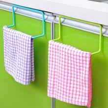 Multifunctional Plastic Bathroom Kitchen  Bar Cupboard Door Back Single Lever Shelf Towel Holder Rack Towels Organizer