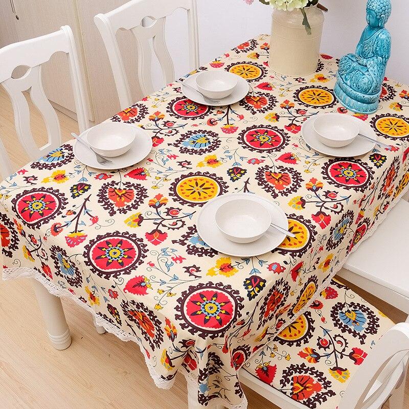 venta caliente mesa de pao de algodn americano europeo impresa microondas horno cubierta prr mesa manteles mantel de navidad