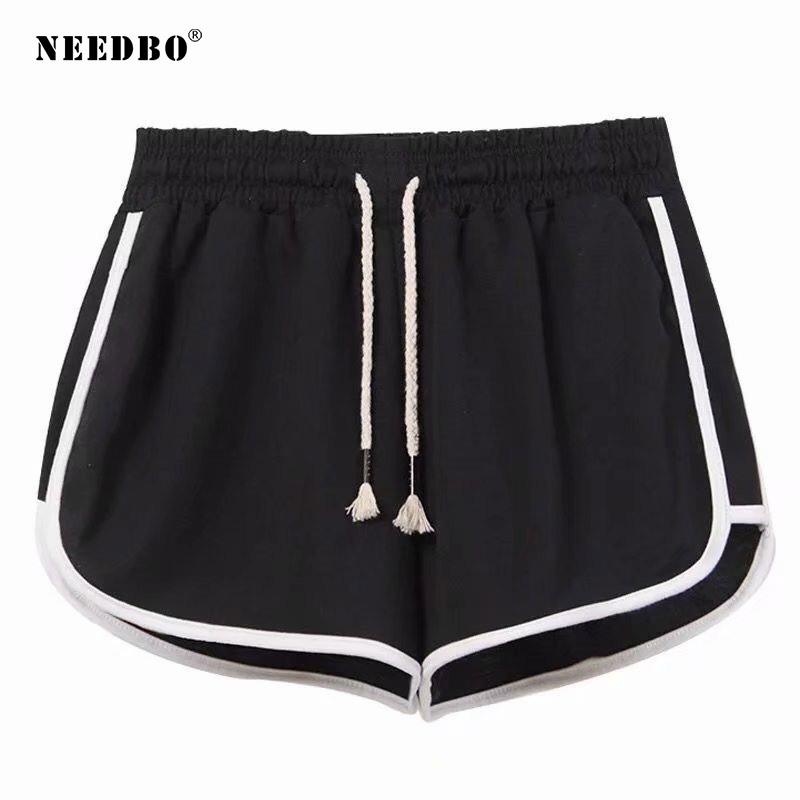 NEEDBO Women Shorts Sport Gym Black Fitness Shorts Female Plus Size Casual Running Workout Trunks Jogging Sexy Shorts For Women