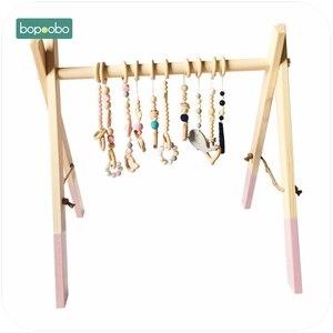 Image 1 - Bopoobo クラシック木製ベビージムジム活動ジムのおもちゃアクセサリーなしモンテッソーリガラガラ保育園おしゃぶり棚 portico