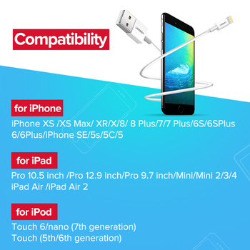 Fast Charging USB Cable for iPhone - Apple MFi Certified 4
