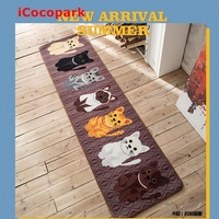 Coffee 7 cats Cool cat carpet for kitchen bar room bed bedroom carpet floor mats non slip creative retro cartoon child Ottomans