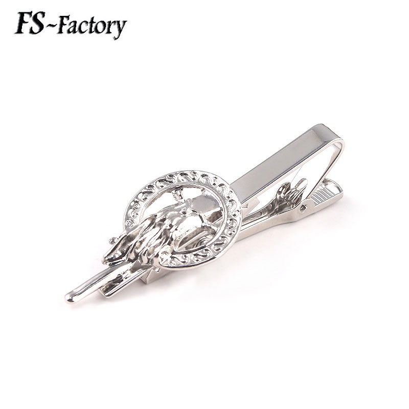 Game Of Thrones Hand of the King Tie Clips A Song of Ice and Fire Dragon <font><b>Wolf</b></font> <font><b>Cufflinks</b></font> for Men Jewelry Gift image