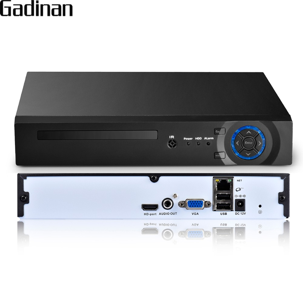 GADINAN 8 Channel 4MP CCTV NVR Security System H.265/H.264 HDMI VGA HD Output Network Video Recorder Support FTP 3G WIFI XMeye