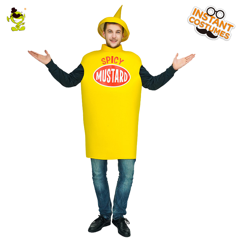 QLQ Halloween  Unisex Christmas Spicy Mustard Costume Cosplay Mustard Man Masquerade Party For Halloween  Party