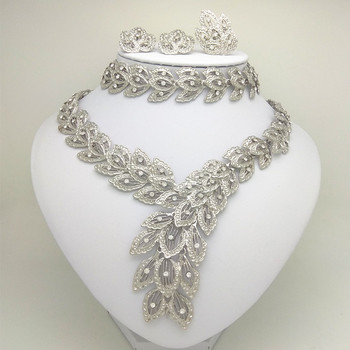 African Beads Jewelry Set Women Silver Plated  Jewelry Sets