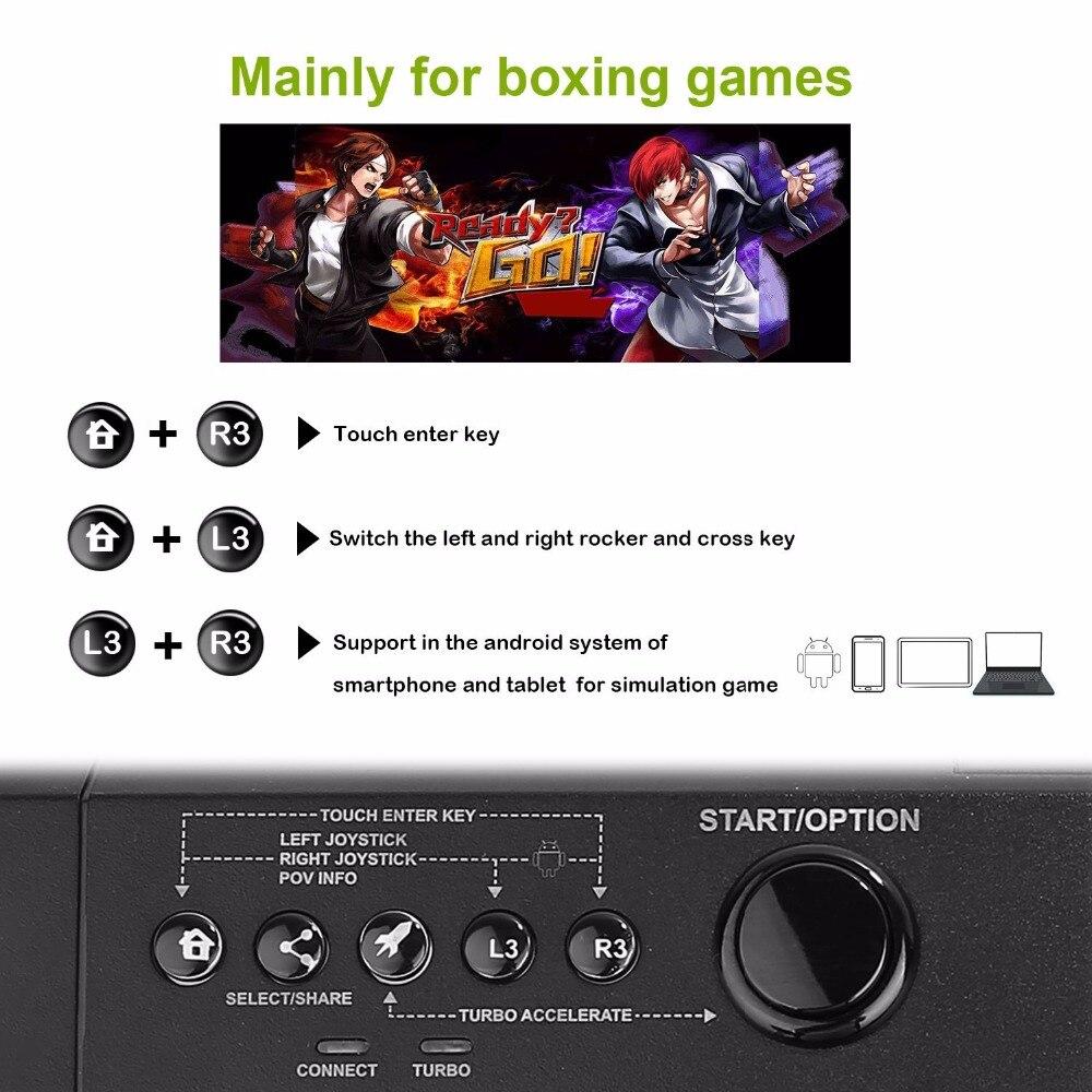 Manette de combat de bâton de combat d'arcade pour Sony Playstation 4 PS4/mince/Pro/PS3/XBOX ONE S/XBOX 360/PC/Android/commutateur - 6