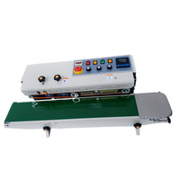 Heating type plastic film sealer with digital counter