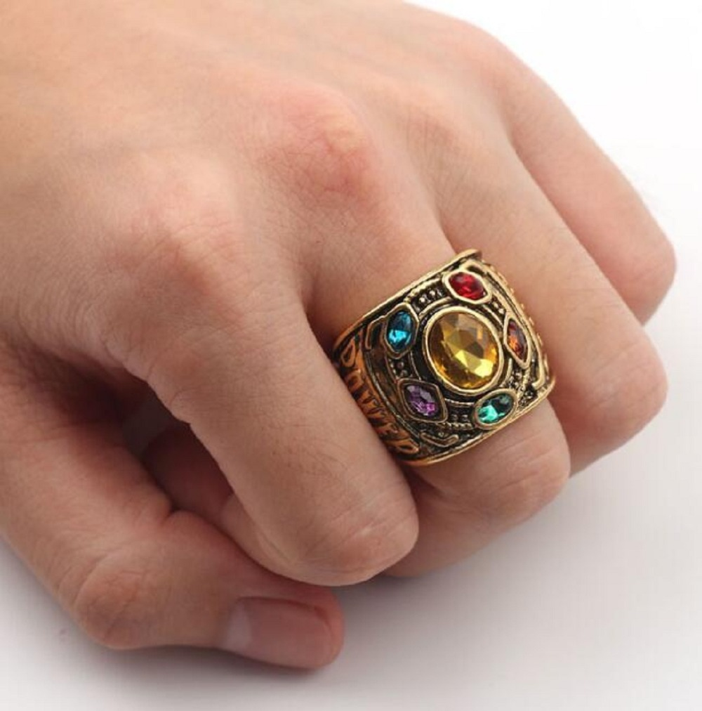 Infinity Gauntlet Figure-Toys Alloy-Ring Thanos Gift Marvel Avengers Power Man/woman