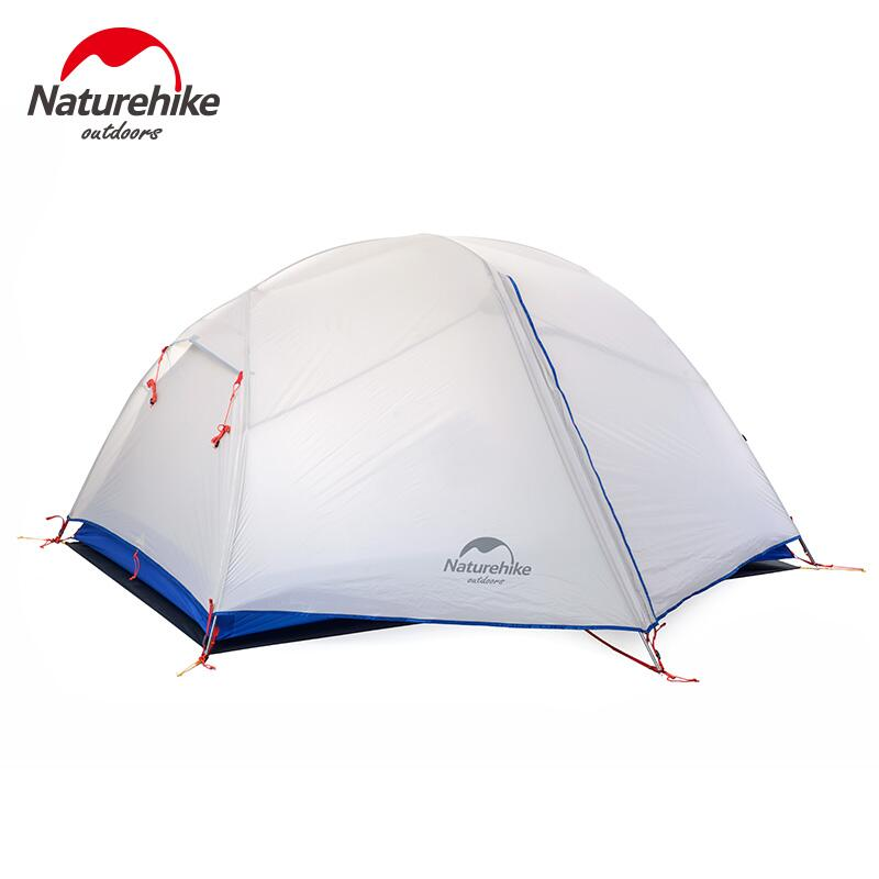 Naturehike Camping Tent Ultralight 2 Person 20D Silicone Aluminum Rod Hiking Tourist Tent For Outdoor Recreation Beach Travel naturehike ultralight outdoor recreation camping tent double layer waterproof 1 2 person hiking beach tent travel tourist tents