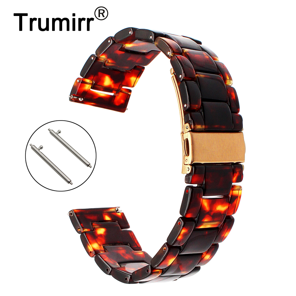22mm Quick Release Resin Watchband for Seiko Casio Citizen Tissot Hamilton Fossil Armani Timex CK Watch Band Steel Buckle Strap