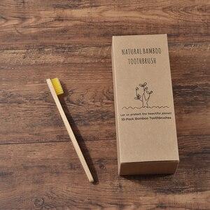 Image 5 - Niestandardowe LOGO 300 Pack miękkie włosie szczoteczki do zębów szczoteczka bambusowa cepillo dientes Natural Eco z włókna bambusowego szczoteczka bambusowa