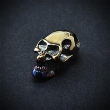 Titanium alloy skull pendant series rope skull accessories risers knife diy accessories
