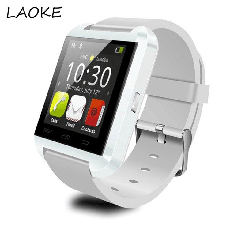 imágenes para LAOKE U8 Inteligente Bluetooth Reloj Smartwatch Android IOS Rel Gio Ronda Relojes Con Podómetro Sleep Monitor Táctil Bluetooth Reloj