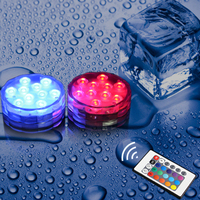 NEW Remote Control Colorful LED Aquarium Diving Light 10 LEDs Waterproof Underwater Electronic Candle Lighting Fish Tank Lamp