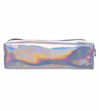Holo Graphic Leather Cosmetic Bags for Women Who Cares Organizer Necessaire Makeup Bag Students Pencil Cases Maleta De Maquiagem