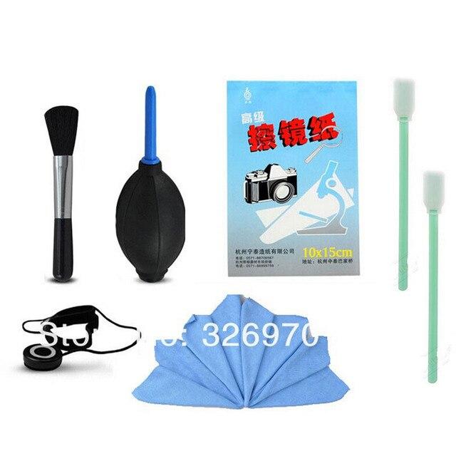 6in1 guarda lente caneta de limpeza papel pano escova de limpeza kit para canon nikon olympus sony pentax sigma lente