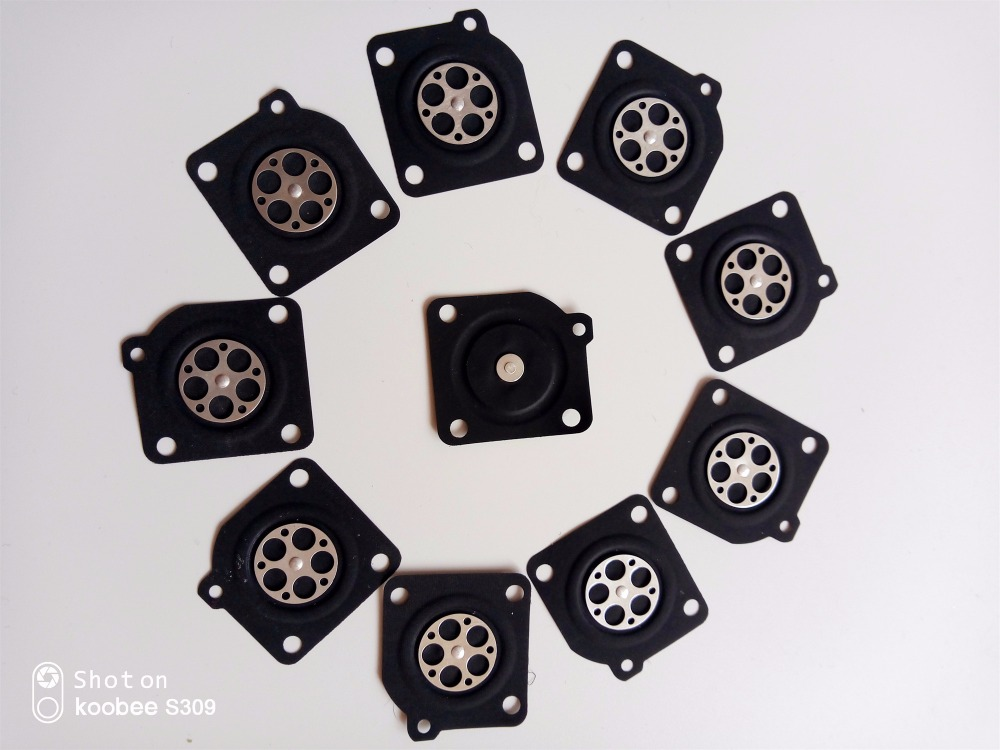 10pcs/lot For ZAMA 180 Metering Diaphragm Gasket Parts For Chainsaw MS210 MS230 MS250 Chainsaw Carburetor Repair Kit