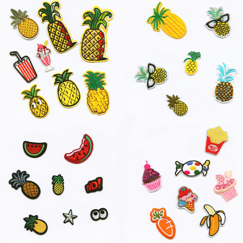 Natural Plant Fruit Fashion Patchwork Patch Embroidered Patches For Clothing Iron On For Close Shoes Bags Badges Embroidery in Patches from Home Garden
