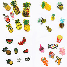 hot deal buy natural plant fruit fashion patchwork patch embroidered patches for clothing iron-on for close shoes bags badges embroidery