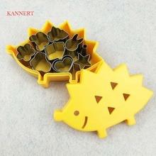 KANNERT 10pcs/set Fruit Cutter Mould Hedgehog Box Design Mini Stainless Steel Mould Cookie Biscuit Ham Cookie Tools
