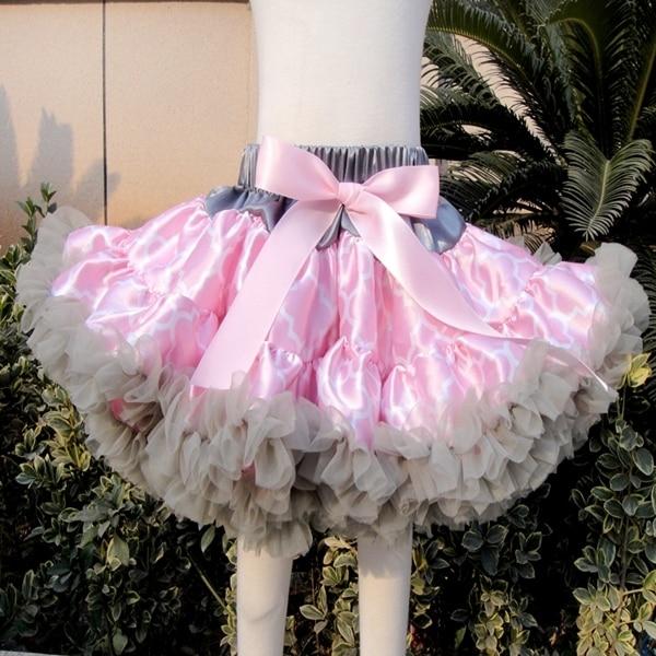 7261ec8fee La más nueva moda Pettiskirt de las muchachas del tutú del bebé para niños  falda de tul de la estrella ...