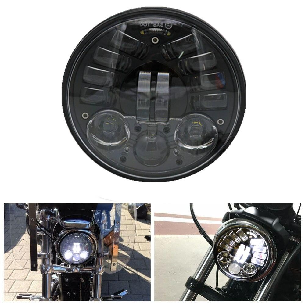 Éclairage rond de remplacement d'ampoule de phare LED de conduite de lumière de moto de 5.75 pouces avec la lampe de projecteur de faisceau de salut/Lo pour Harley