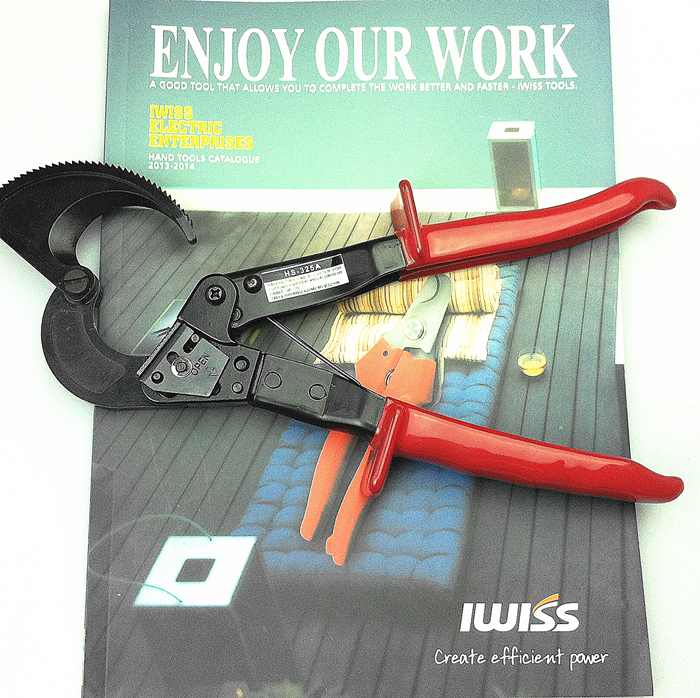Ratchet cable cutter HS-325A,Cutting range:240mm2 max , Not for cutting steel or steel wire  цены