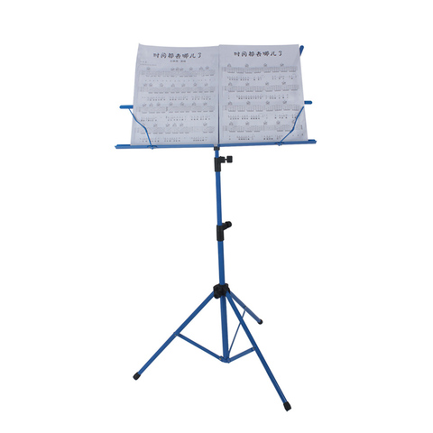 Hot Sale Foldable Lightweight Metal Material Sheet Music Stand Holder with Waterproof Carry Bag Pakistan