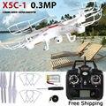 X5c-1 2.4g 4ch 6-axis zangão aérea profissional rc helicóptero quadcopter toys drone com câmera 0.3mp hd presentes dos miúdos