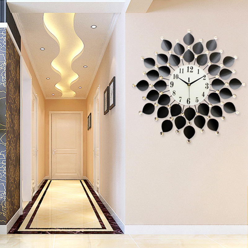 US $65.11 |20 Zoll Europäischen Wanduhren Wohnzimmer/Schlafzimmer Art Große  Wanduhr Modernes Design Kreative Mute Wand Uhr Home Decor Wandklo-in ...