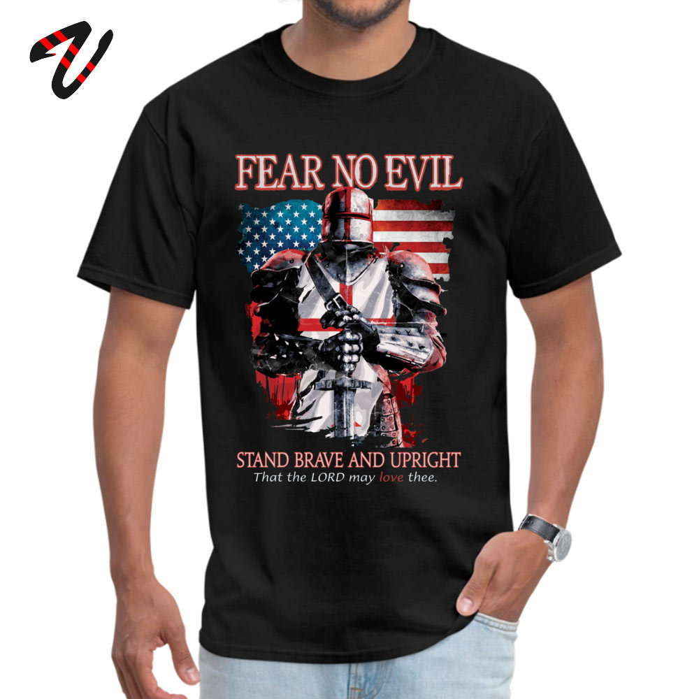 Young Newest Tops Shirt Crewneck Lovers Day All Cotton T Shirt Casual Short Sleeve FEAR NO EVILTEMPLAR KNIGHTS T Shirt FEAR NO EVILTEMPLAR KNIGHTS17845 black