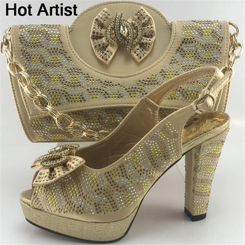 Africain D'été Haute Artiste Ensemble Pu Talons Italien Style Partie La Chaussures argent Et Assorti or Pour Me7715 pourpre Robe Femme Sac Chaude Ciel 44zSqw