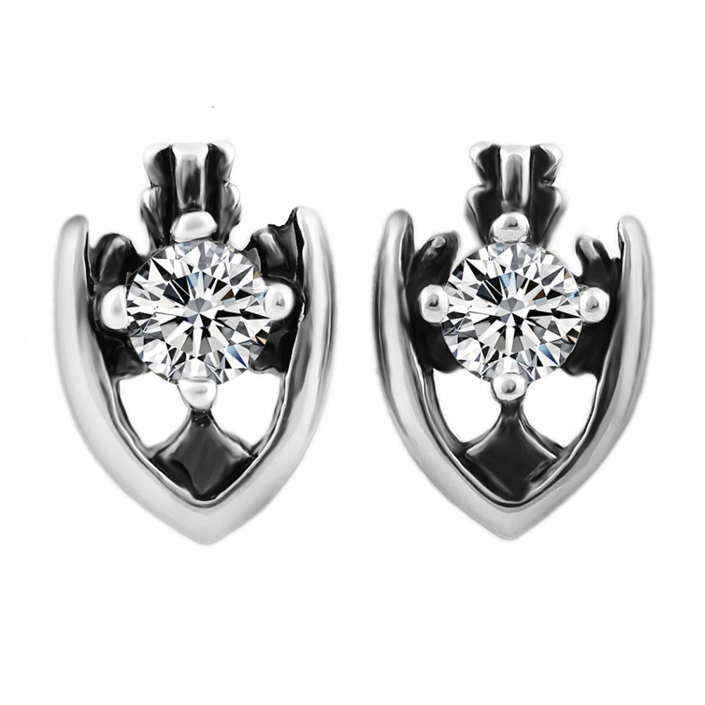 New Arrival! Jewelry Wholesale Punk Anchor Earrings Untique Silver Plated Stainless Steel Jewelry For Fashion Women Gift