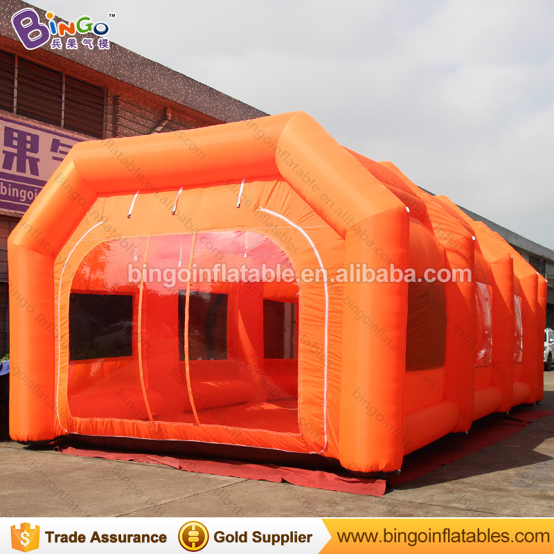 все цены на Free Shipping Orange Color Inflatable Paint Spray Booth Hot sale 32.8X16.4X11.5 feet blow up Dustproof Workshop tent toy tents онлайн