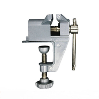 Aluminum Miniature Small Jeweler Clamp On Table Bench Vise Tool Vice