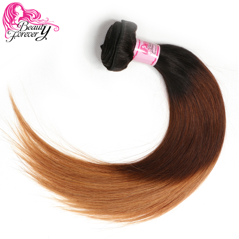 Beauty Forever Ombre Brazilian Straight Hair Bundle 100 Remy Human Hair Weaves 3 Tone Color T1B